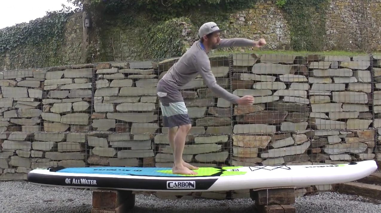 """Featured image for """"Practicing using your core on land to improve paddle stroke / How to SUP"""""""